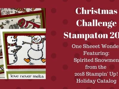 Christmas Challenge Stampathon 2018 - One Sheet Wonder