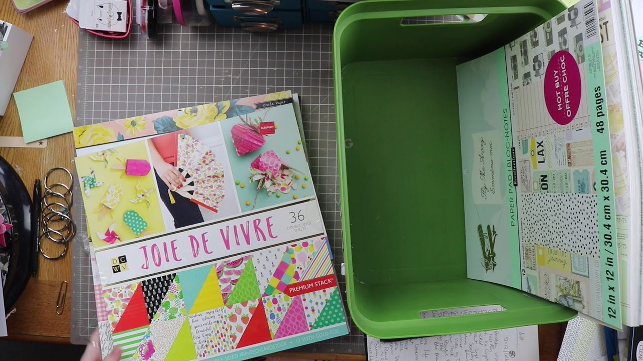 Craft Room Clean Up! - 12x12 Paper Pads. Organizing, Purging, and Sorting Scraps!