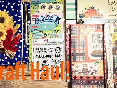 Craft Supply Haul - Art Journal Page