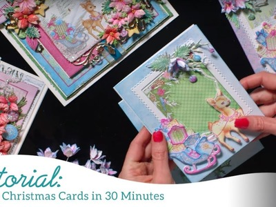 Create Christmas Cards in 30 Minutes -Merry and Bright Collection