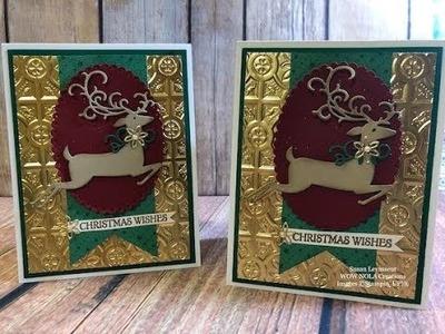 Dashing Deer Christmas Card Stampin' Up!