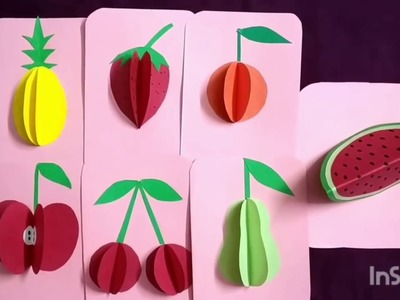 DIY 3D Fruits with paper |JAAS Easy Crafts
