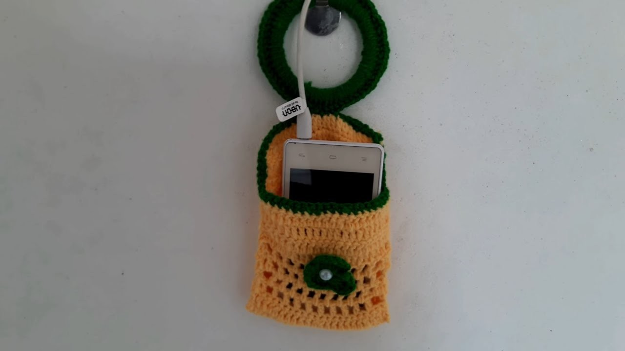 DIY AMAZING MOBILE STAND FROM WOOLEN CRAFTS IDEA. EASY WOOLEN MOBLE STAND CRAFT. HOME DECORATION