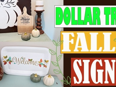 DIY DOLLAR TREE FALL DECOR SIGN - FALL DECOR WALL ART