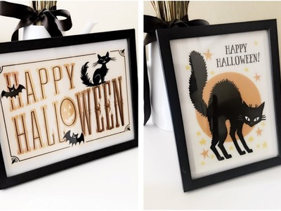 DIY Dollar Tree Halloween Pictures Using Halloween Greeting Cards    Halloween Decor 2018