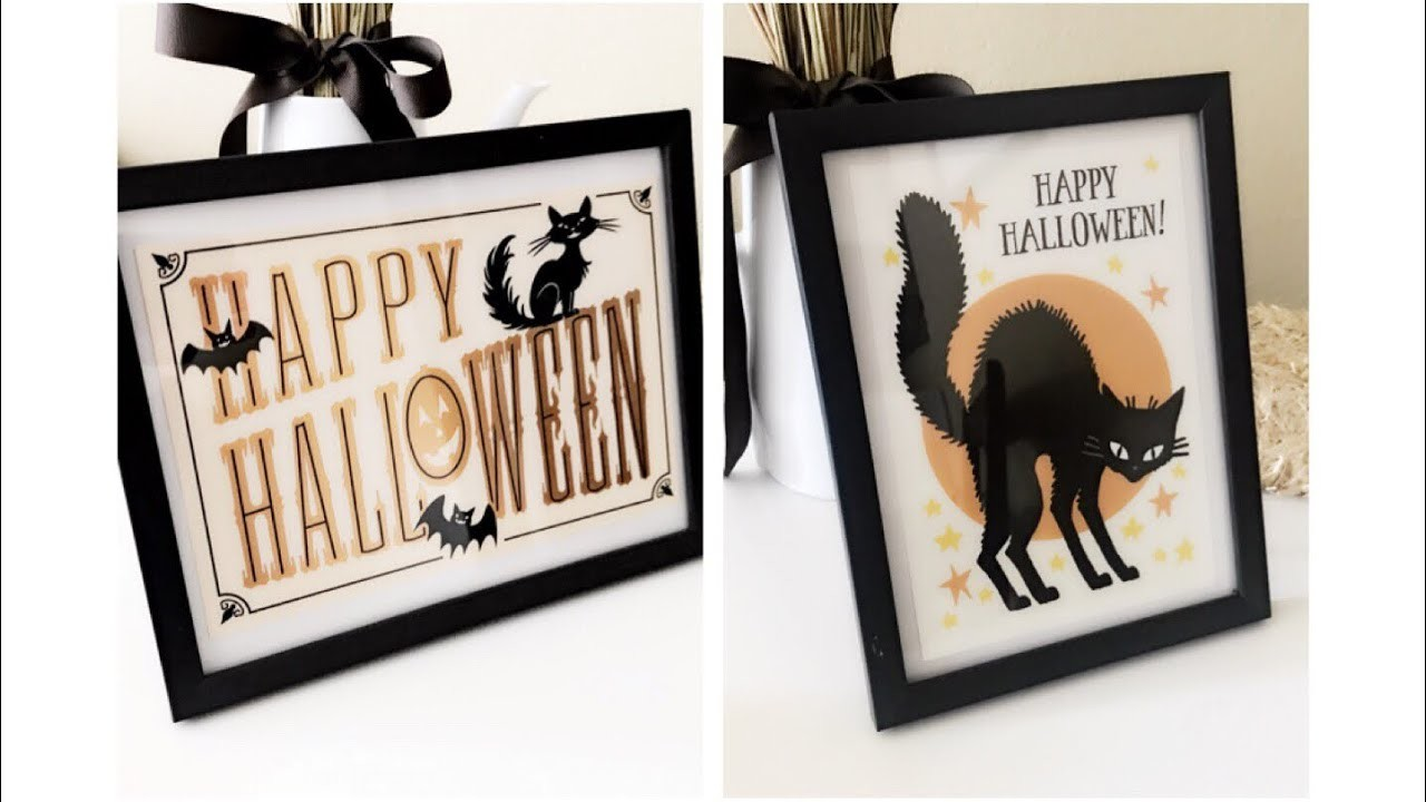 DIY Dollar Tree Halloween Pictures Using Halloween Greeting Cards || Halloween Decor 2018