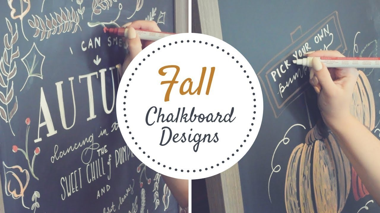 Diy Fall Chalk Board Signs Fall Home Decor Hand