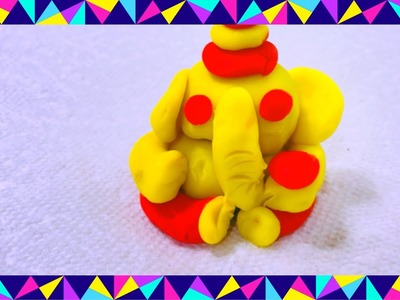 DIY Ganesha with play doh| play clay| step by steps video at home by non stop kanak
