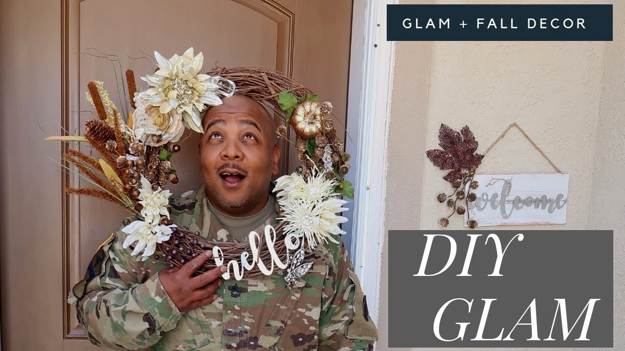 DIY GLAM WREATH* SUPER CUTE || HOW TO ADD BLING TO YOUR DOOR!