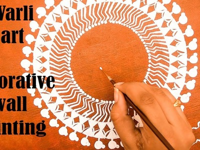 DIY | how to make warli art | decorative wall painting | home decoration ideas