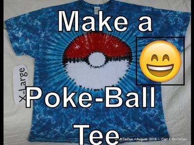 DIY How to Tie Dye a Poke Ball Tee
