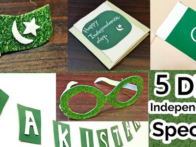 DIY | independence day pakistan How  to make, flag,  brooch banner card and eye wear, Jashne azadi,