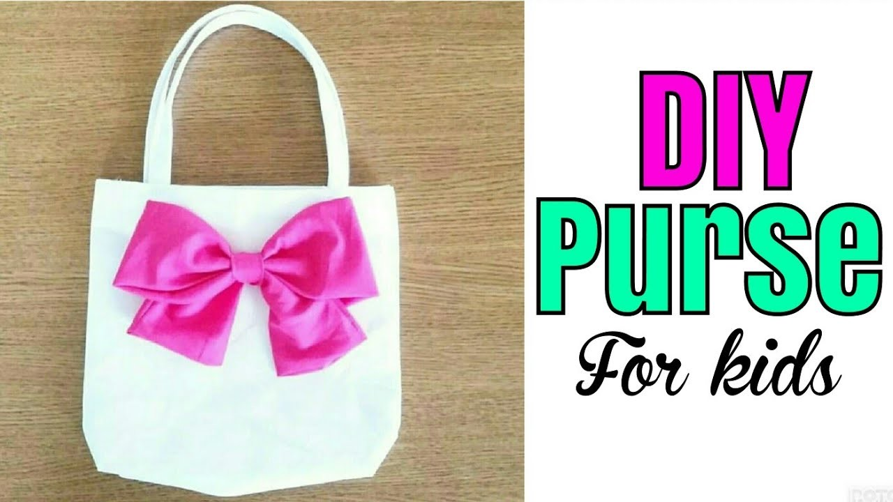 DIY PURSE FOR KIDS AND ADULTS.   DIY TOTE BAG
