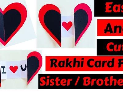 DIY  Raksha Bandhan Card For Brother. Sister | DIY Easy Handmade Card