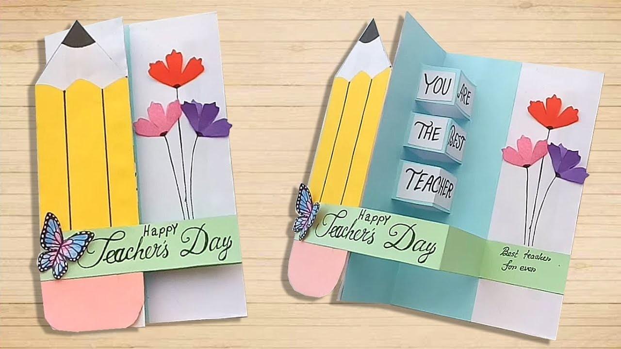 diy teachers day pop up card handmade teachers day card