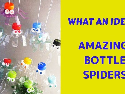 DIY || What an Amazing Idea to make Hanging Spider by using old plastic bottle || PLASTIC SPIDER