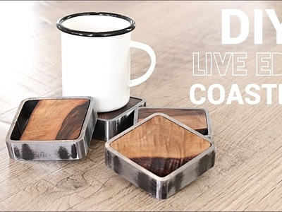 DIY Wood and Steel Coasters | EASY Woodworking