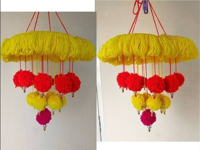 DIY Woolen Jhoomar | wool Chandelier | Wool Craft Idea | Best out of waste | DIY home decoratingidea