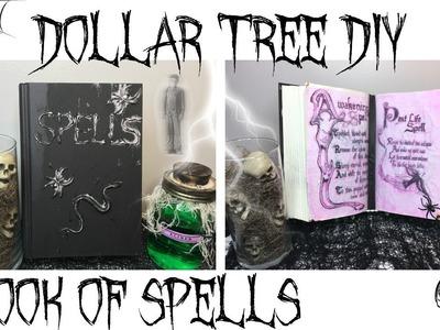 DOLLAR TREE DIY HALLOWEEN DECOR | BOOK OF SPELLS
