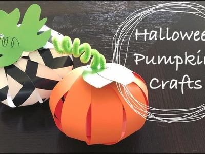 Easy DIY Halloween Paper Pumpkin Crafts For Kids | Halloween Decoration Ideas
