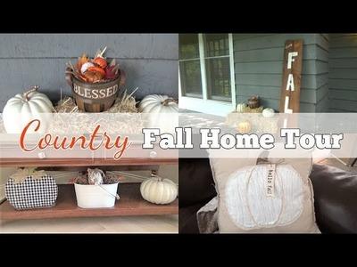FALL HOME TOUR 2018 | DIY Fall Porch Sign | Country.Farmhouse Decor