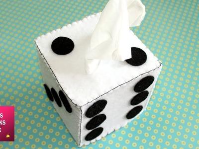 Felt Dice Tissue Paper Box. Felt Crafts.