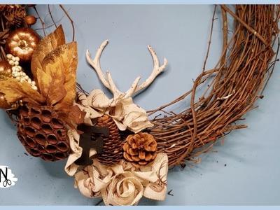 Front Door Wreath DIY for Fall | Kiesha Fraser DIY