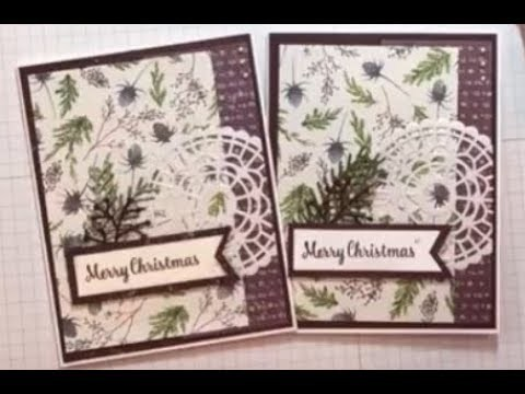 Frosted Floral Christmas Card