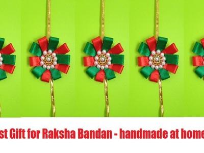 Handmade rakhi making 2018 | rakhi making with quilling paper | decorative ribbons | best of waste
