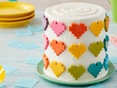 How to Make a Rainbow Candy Hearts Cake | Wilton
