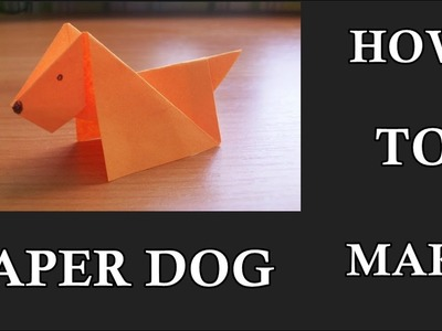 How to make an origami paper dog | ORIGAMI DOG | PAPER DOG