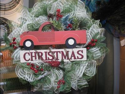 How to make Carmen's Christmas Tree truck eyelash wreath