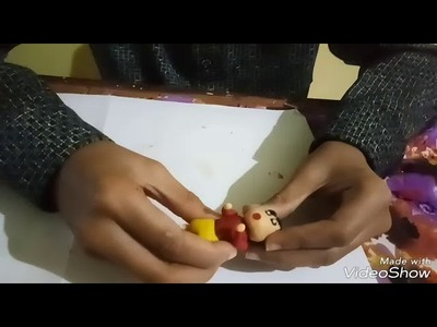 How to make shinchan polymer clay toturial