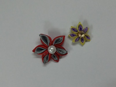 Kanzashi Ribbon Flower-Double Color