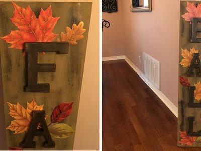 Large Fall DIY Sign 2018