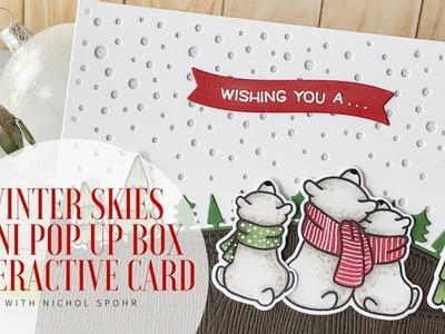 Lawn Fawn | Winter Skies Mini Pop Up Box Christmas Card