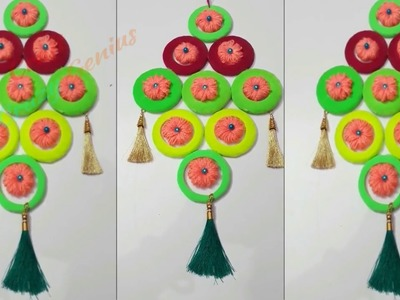New design Woolen wall hanging From waste old Bangles|Diy woolen wall hanging|Diy Room decor idea