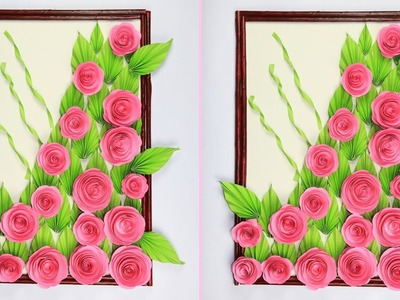 Paper Flower Wall Hanging | Beautiful Wall Hanging Making at Home | Wall Decoration Ideas