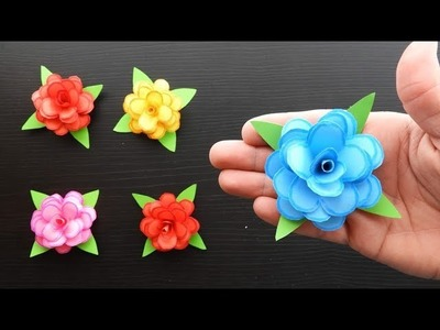 Paper roses Fast and easy paper flowers ???? Origami Pink. Easy crafts