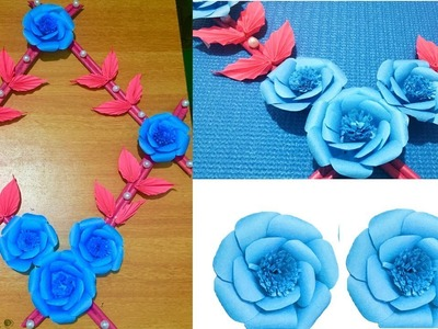 Paper Wall Hanging Craft Ideas-Paper Flower-Paper Craft-Wall Decoration
