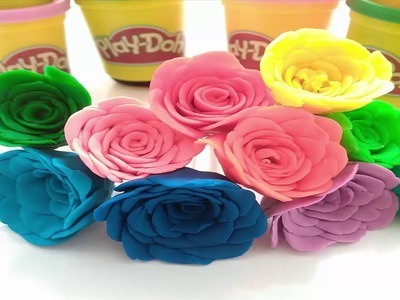Play Doh Rainbow Rose How to Make a Flower with Play Doh