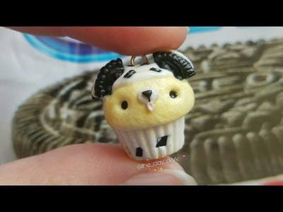 POLYMER CLAY OREO DOG CUPCAKE!.COLLAB WITH MandyPandy1205????