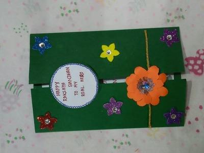 Rakhi card for soldier | School Project | DIY Rakhi card making