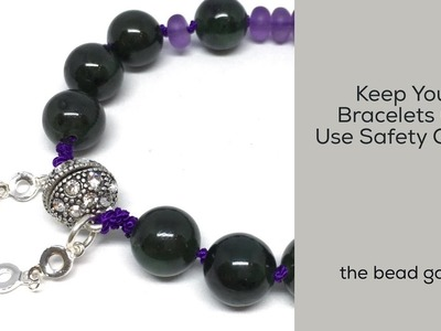 Safety Chain with Magnet Clasps - Protect Your Bracelets at The Bead Gallery