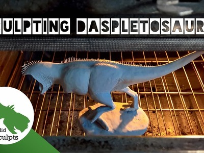 Sculpting a Daspletosaurus Dinosaur with Polymer clay and Armature