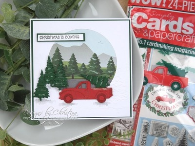 Simply Cards & Papercrafts 181 Driving Home for Christmas