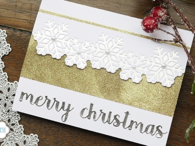 Snowflake Border Christmas Card   Technique Friday with Els