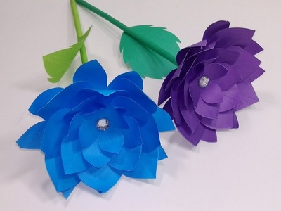 Stick Flower Making Ideas Step by Step | Paper Stick Flower for Home | Jarine's Crafty Creation