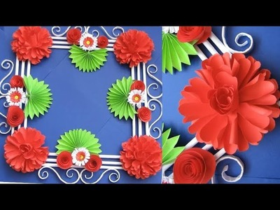 Wall Decoration Ideas 16 | Beautiful Wall Hanging Making at Home | Paper Flower Wall Hanging