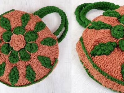 Amazing Woolen Handbag Making at Home || DIY Shopping Bag Making Using Woolen || Handmade Craft Idea